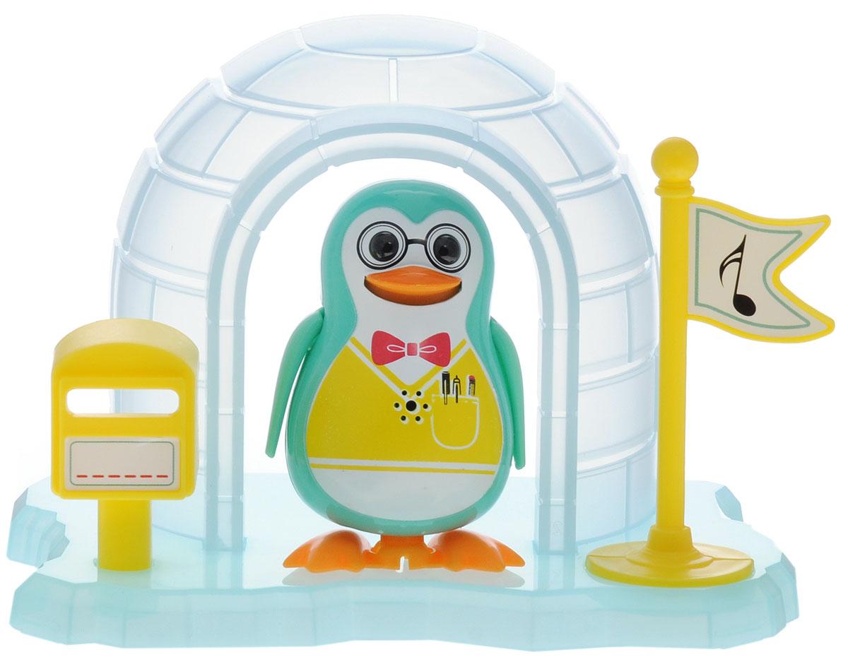 DigiFriends Интерактивная игрушка Пингвин с домиком цвет бирюзовый88343_бирюзовыйВсе слышали о различных домашних питомцах, но чтобы о пингвинах - никогда! Теперь у вас есть возможность получить маленького друга, интерактивного пингвина с домиком. Эта умная птичка будет развлекать вас различными мелодиями, гоготанием, а также танцами в виде покачиваний в такт музыке. Кольцо-свисток может служить как переносной насест для птички. Ребенок может надеть кольцо на два пальца, закрепить там птичку и свободно играть. Интерактивная игрушка DigiFriends Пингвин с домиком устойчива на любой ровной поверхности. Игрушка работает в двух режимах: соло и хор. Можно совмещать неограниченное количество птиц. Рекомендуется докупить 3 батарейки типа LR44 (товар комплектуется демонстрационными).