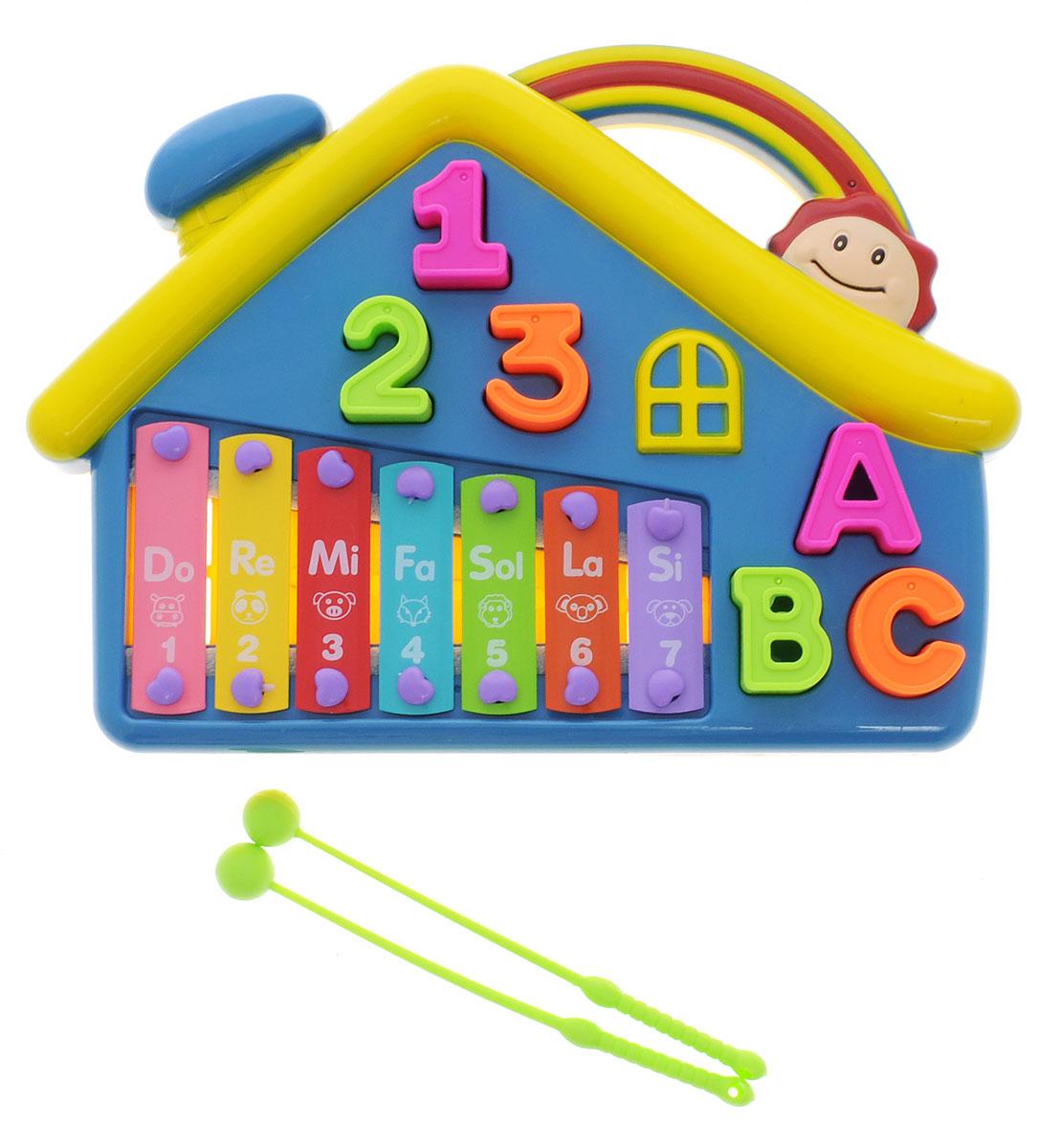 Shantou Ксилофон ДомикB739359RДетская музыкальная игрушка Shantou Ксилофон Домик рассчитана на самых юных музыкантов. Игрушка изготовлена из высококачественного пластика - прочного и абсолютно безвредного для детского здоровья. Ксилофон имеет яркий цвет и обязательно привлечет внимание малыша. Удобные палочки позволят вашему ребенку сочинять различные мелодии. Такая яркая музыкальная игрушка поможет ребенку развить слух, внимание, память и мелкую моторику.