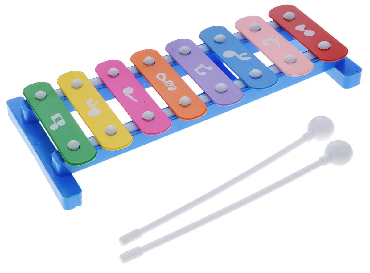 Shantou МеталлофонB1391346Металлофон Shantou - великолепный детский музыкальный инструмент, с помощью которого ребенок будет развивать свои творческие и музыкальные способности. В комплект с металлофоном также входят 2 палочки, с помощью которых ребенок будет создавать различные звуки и мелодии. Игра на детских музыкальных инструментах прекрасно развивает музыкальный слух, творческие способности малыша, координацию движений и детскую моторику. Набор изготовлен из безопасных высококачественных материалов.