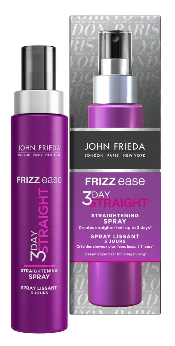 John Frieda Frizz-Ease 3 Day Straight Выпрямляющий моделирующий спрей для волос длительного действия, 100 млjf115320Укладка на 48 часов с выпрямлением волос*. Во время укладки превращает непослушные и вьющиеся волосы в прямые гладкие пряди. Эффект выпрямления сохраняется до трех дней*. Теплоактивная формула выпрямляющего спрея 3 DAY STRAIGHT с кератином начинает действовать и защищать волосы от перегрева и повреждений, покрывает по всей длине каждую прядь, запечатывая ее для более продолжительного эффекта выпрямления без утяжеления волос. * или до следующего мятья головы, если вы моете ее чаще чем раз в 3 дня. Применение: Равномерно нанести спрей на МОКРЫЕ ИЛИ ВЛАЖНЫЕ волосы, не на сухие. Для начала достаточно 7-15 нажатий. Количество наносимого средства зависит от густоты, длины и от того насколько сильно они вьются. Используйте расческу, чтобы распределить спрей равномерно и затем высушить волосы феном. Завершите укладку при помощи стайлера для выпрямления волос (выпрямителя), последовательно выпрямляя прядь за прядью. Характеристики: Объем: 100 мл. Производитель: Великобритания. ...