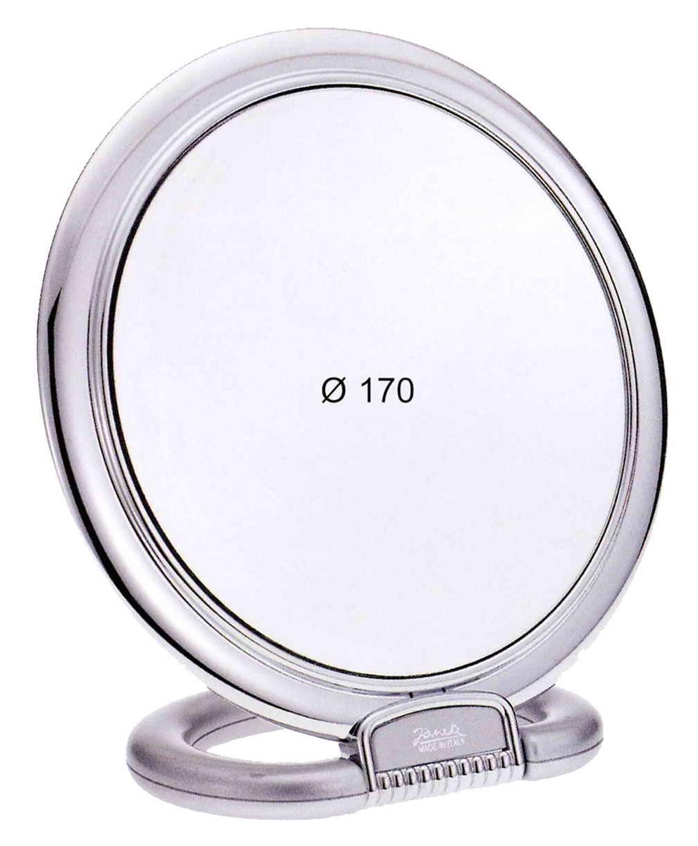 Janeke Зеркало настольное D170, линзы ZEISS, алюминиевое, AL493.3.47483Марка Janeke – мировой лидер по производству расчесок, щеток, маникюрных принадлежностей, зеркал и косметичек. Марка Janeke, основанная в 1830 году, вот уже почти 180 лет поддерживает непревзойденное качество своей продукции, сочетая новейшие технологии с традициями ста- рых миланских мастеров. Все изделия на 80% производятся вручную, а инновационные технологии и современные материалы делают продукцию марки поистине уникальной. Стильный и эргономичный дизайн, яркие цветовые решения – все это приносит истин- ное удовольствие от использования аксессуаров Janeke. Зеркала для дома итальянской марки Janeke, изготовленные из высококачественных материалов и выполненные в оригинальном стильном дизайне, дополнят любой интерьер. Односторонние или двусторонние, с увеличением и без, на красивых и удобных подс- тавках – зеркала Janeke прослужат долго и доставят истинное удо- вольствие от использования