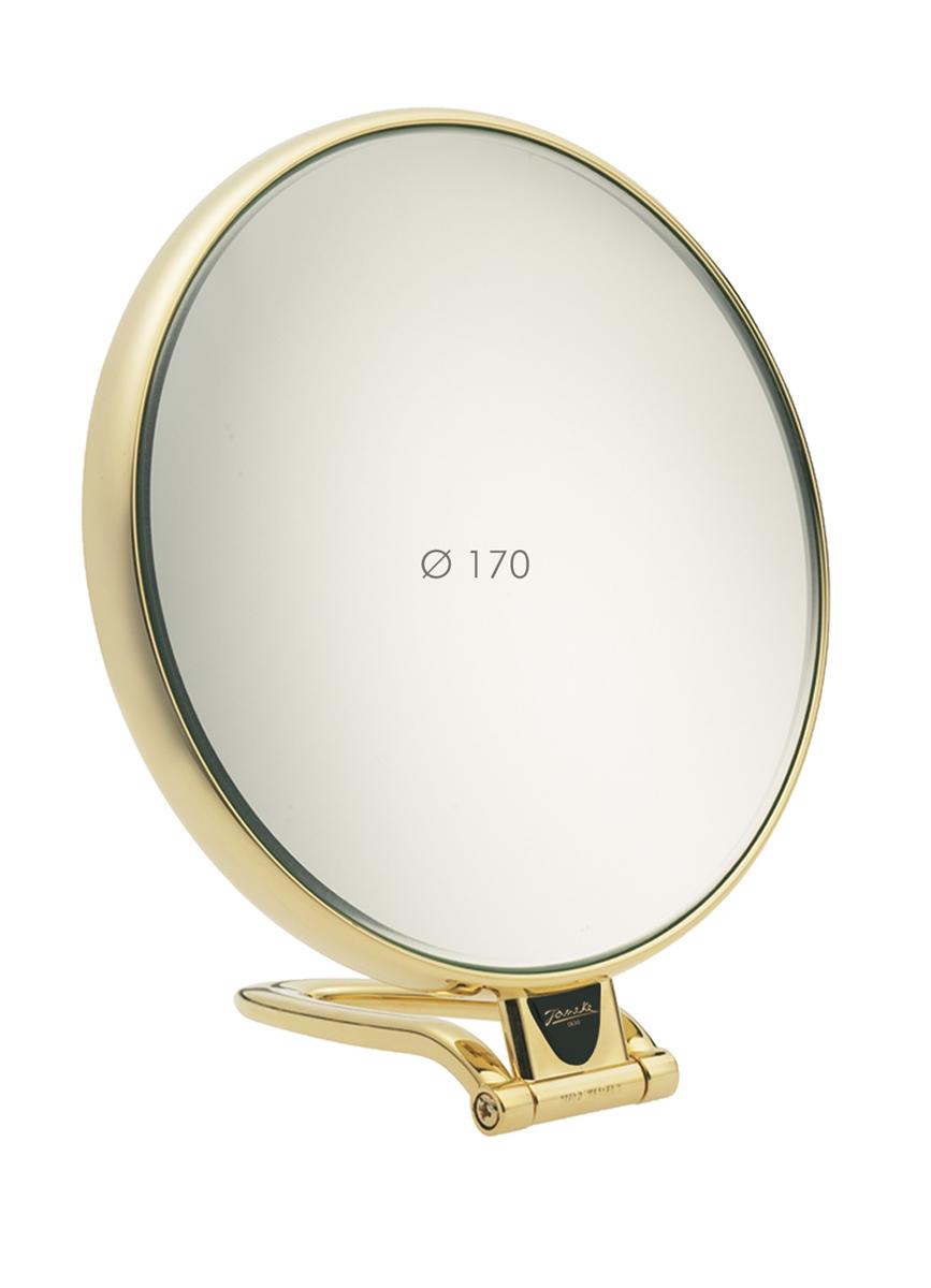 Janeke Зеркало настольное D170, линзы ZEISS, позолоченное, AU447.3.53785Марка Janeke – мировой лидер по производству расчесок, щеток, маникюрных принадлежностей, зеркал и косметичек. Марка Janeke, основанная в 1830 году, вот уже почти 180 лет поддерживает непревзойденное качество своей продукции, сочетая новейшие технологии с традициями ста- рых миланских мастеров. Все изделия на 80% производятся вручную, а инновационные технологии и современные материалы делают продукцию марки поистине уникальной. Стильный и эргономичный дизайн, яркие цветовые решения – все это приносит истин- ное удовольствие от использования аксессуаров Janeke. Зеркала для дома итальянской марки Janeke, изготовленные из высококачественных материалов и выполненные в оригинальном стильном дизайне, дополнят любой интерьер. Односторонние или двусторонние, с увеличением и без, на красивых и удобных подс- тавках – зеркала Janeke прослужат долго и доставят истинное удо- вольствие от использования