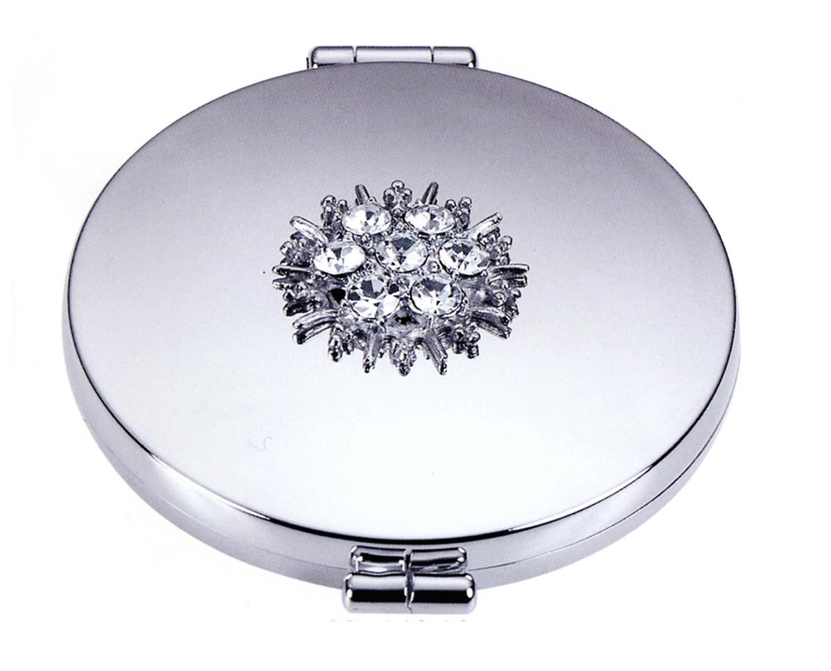 Janeke Зеркало карманное хромированное со стразами D73, CR448.09. 549328