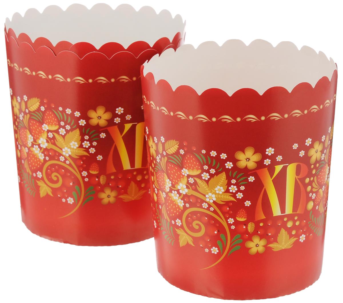 Набор форм для выпечки кексов Home Queen Пасхальные куличи, 3 шт69939Формы Home Queen Пасхальные куличи изготовлены из бумаги с ПЭТ покрытием. Они используются для приготовления куличей, а также другой выпечки. Изделия декорированы яркими рисунками. С такими формами вы всегда сможете порадовать своих близких оригинальной выпечкой. Диаметр формы (по верхнему краю): 12 см. Высота: 13,5 см.