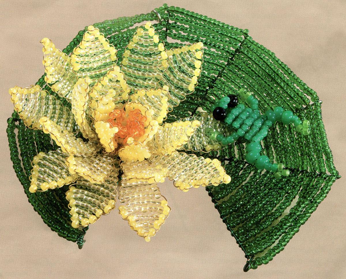 Набор для бисероплетения Чаривна Мить, 2 х 9 см7704687Состав набора: проволока - 2 цвета, бисер Чехия - 5 цветов, схема-инструкция