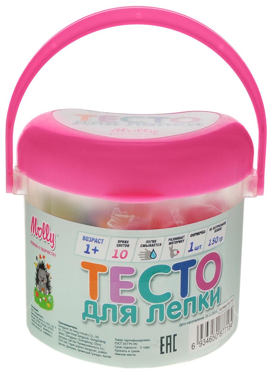 Molly Масса для лепки 10 цветов 1 формочка цвет розовыйM1218_розовыйМасса для лепки Molly замечательно подходит для занятия лепкой с детьми. Масса пластична, приятна на ощупь и долговечна. Комплект состоит из десяти брусочков разноцветного пластилина для лепки и формочки. Для удобства хранения все помещено в пластиковое ведерко с ручкой. Преимущественным отличием массы для лепки Molly является то, что она не пачкает руки и одежду, легко снимается с поверхности, не окрашивает, может использоваться многократно при условии правильного хранения. Пластилин разных цветов хорошо смешивается между собой, благодаря чему можно создавать бесконечное множество оттенков. Готовые изделия и поделки можно раскрасить красками и использовать для коллекционирования, украшения или в качестве подарка близкому человеку. Творческие занятия лепкой замечательно развивают мелкую моторику рук, усидчивость и воображение детей. Разминая, отщипывая приятные на ощупь кусочки, ребенок получает полезные навыки для работы с пластичными...