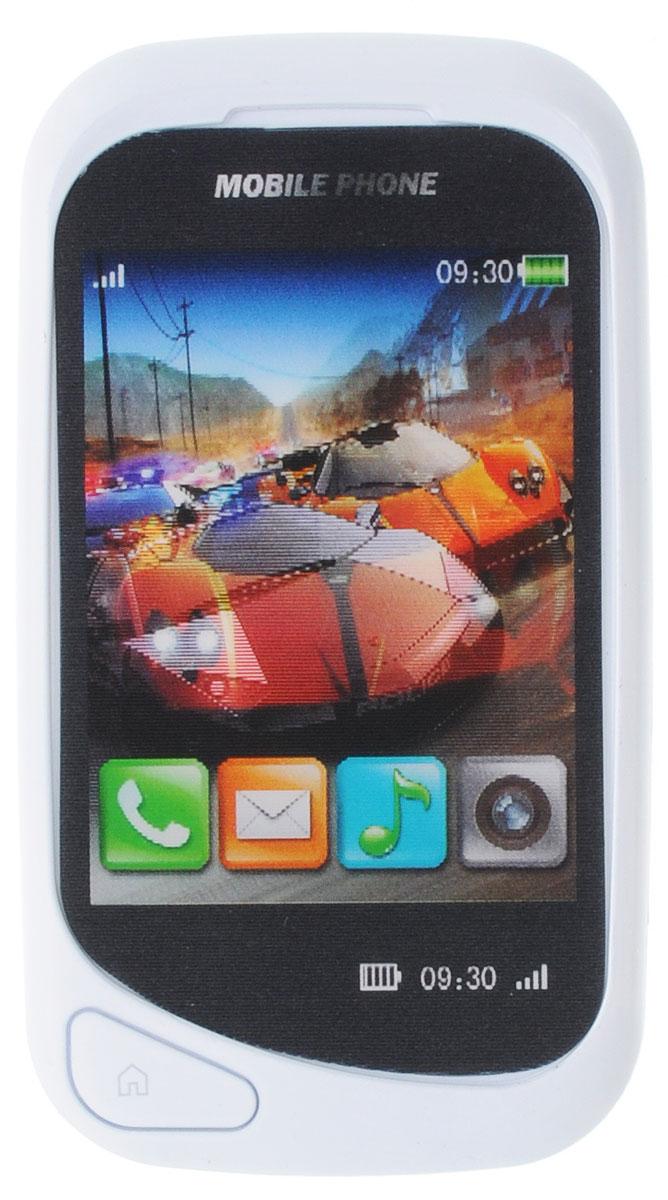 S+S Toys Музыкальная игрушка Сотовый телефончик цвет белыйСС75447_белыйМузыкальная игрушка S+S Toys Сотовый телефончик привлечет внимание вашего ребенка и не позволит ему скучать. Игрушка выполнена из белого пластика в виде сенсорного телефона. Трудно поверить, что этот телефон всего лишь игрушка, ведь он выглядит как настоящий! Игра с телефоном будет интересной, так как в нем есть цветной дисплей с картинками. На игрушке имеются кнопки, при нажатии на которые, ребенок сможет послушать веселые фразы, стишки, мелодии, научиться навыкам общения по телефону. Порадуйте своего ребенка таким замечательным подарком! Рекомендуется докупить 2 батарейки типа AG13 (товар комплектуется демонстрационными).