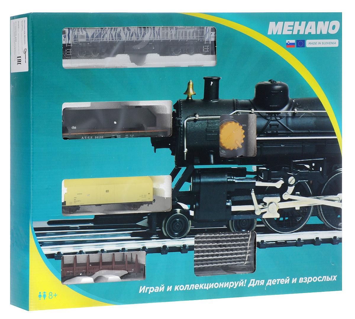 Mehano Железная дорога Prestige с тепловозом Bombardier BT2PR02-280Железная дорога Mehano - миниатюрная копия грузового состава. Мельчайшие детали паровозов, тепловозов и грузовых вагонов, каждая рельефная линия экстерьера тщательно проработаны, благодаря чему состав выглядит более чем реально. Можно вообразить, как этот состав загрузили где-то на миниатюрном перевалочном пункте, а затем он аккуратно вез свой груз по длинным разветвленным путям... Воплотить воображаемое в действительность очень легко: при желании железнодорожное полотно можно увеличить и добавить элементы ландшафта, ведь все элементы железных дорог Mehano совместимы друг с другом. При желании, можно докупить стрелку, перекресток и состав может двигаться на другие участки железной дороги. Рельсы металлические, колеса паровозов и вагонов выполнены из металла. Все элементы комплекта совместимы с другими сборными моделями железной дороги Mehano, так что юный машинист сможет прокладывать различные маршруты, строить новые станции и придумывать неповторимый, свой...