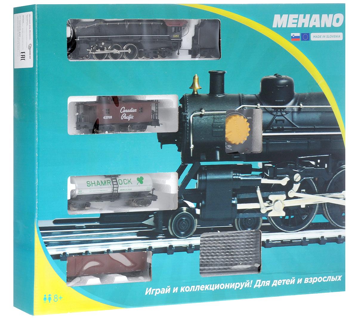Mehano Железная дорога Prestige с паровозом Lackawanna 1151PR02-264Железная дорога Mehano - миниатюрная копия грузового состава. Мельчайшие детали паровозов, тепловозов и грузовых вагонов, каждая рельефная линия экстерьера тщательно проработаны, благодаря чему состав выглядит более чем реально. Можно вообразить, как этот состав загрузили где-то на миниатюрном перевалочном пункте, а затем он аккуратно вез свой груз по длинным разветвленным путям... Воплотить воображаемое в действительность очень легко: при желании железнодорожное полотно можно увеличить и добавить элементы ландшафта, ведь все элементы железных дорог Mehano совместимы друг с другом. При желании, можно докупить стрелку, перекресток и состав может двигаться на другие участки железной дороги. Рельсы металлические, колеса паровозов и вагонов выполнены из металла. Все элементы комплекта совместимы с другими сборными моделями железной дороги Mehano, так что юный машинист сможет прокладывать различные маршруты, строить новые станции и придумывать неповторимый, свой...