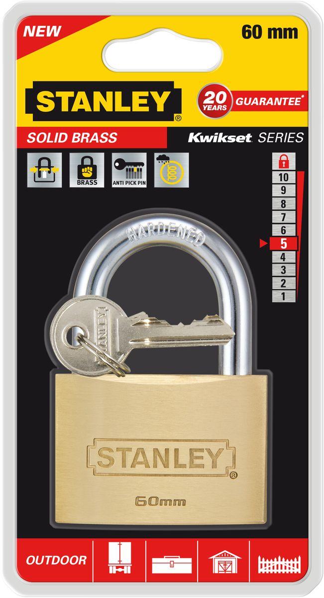 Замок Stanley латунный, 60 мм. S742-033S742-033Замки для использования на улице