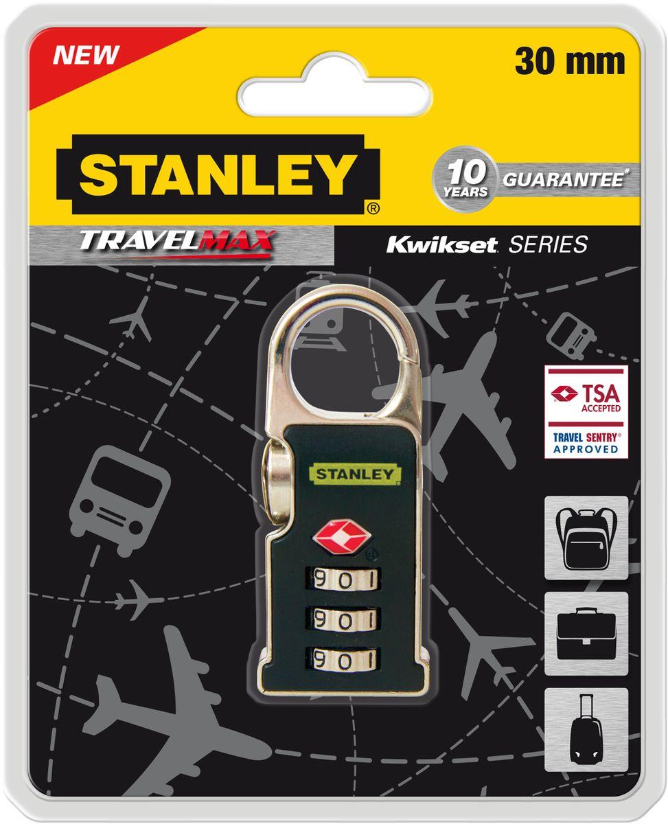 Замок Stanley с 3-х значным кодом, 30 мм, черный TSA +дужка-карабин. S742-062S742-062Замки для путешествий Travell Max