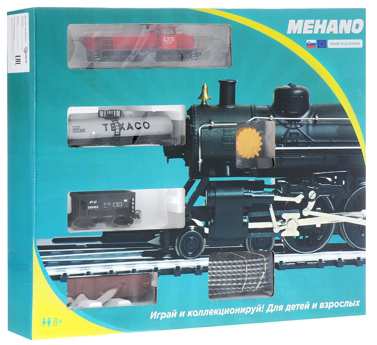 Mehano Железная дорога Prestige с тепловозом LTEPR02-273Железная дорога Mehano - миниатюрная копия грузового состава. Мельчайшие детали паровозов, тепловозов и грузовых вагонов, каждая рельефная линия экстерьера тщательно проработаны, благодаря чему состав выглядит более чем реально. Можно вообразить, как этот состав загрузили где-то на миниатюрном перевалочном пункте, а затем он аккуратно вез свой груз по длинным разветвленным путям... Воплотить воображаемое в действительность очень легко: при желании железнодорожное полотно можно увеличить и добавить элементы ландшафта, ведь все элементы железных дорог Mehano совместимы друг с другом. При желании, можно докупить стрелку, перекресток и состав может двигаться на другие участки железной дороги. Рельсы металлические, колеса паровозов и вагонов выполнены из металла. Все элементы комплекта совместимы с другими сборными моделями железной дороги Mehano, так что юный машинист сможет прокладывать различные маршруты, строить новые станции и придумывать неповторимый, свой...