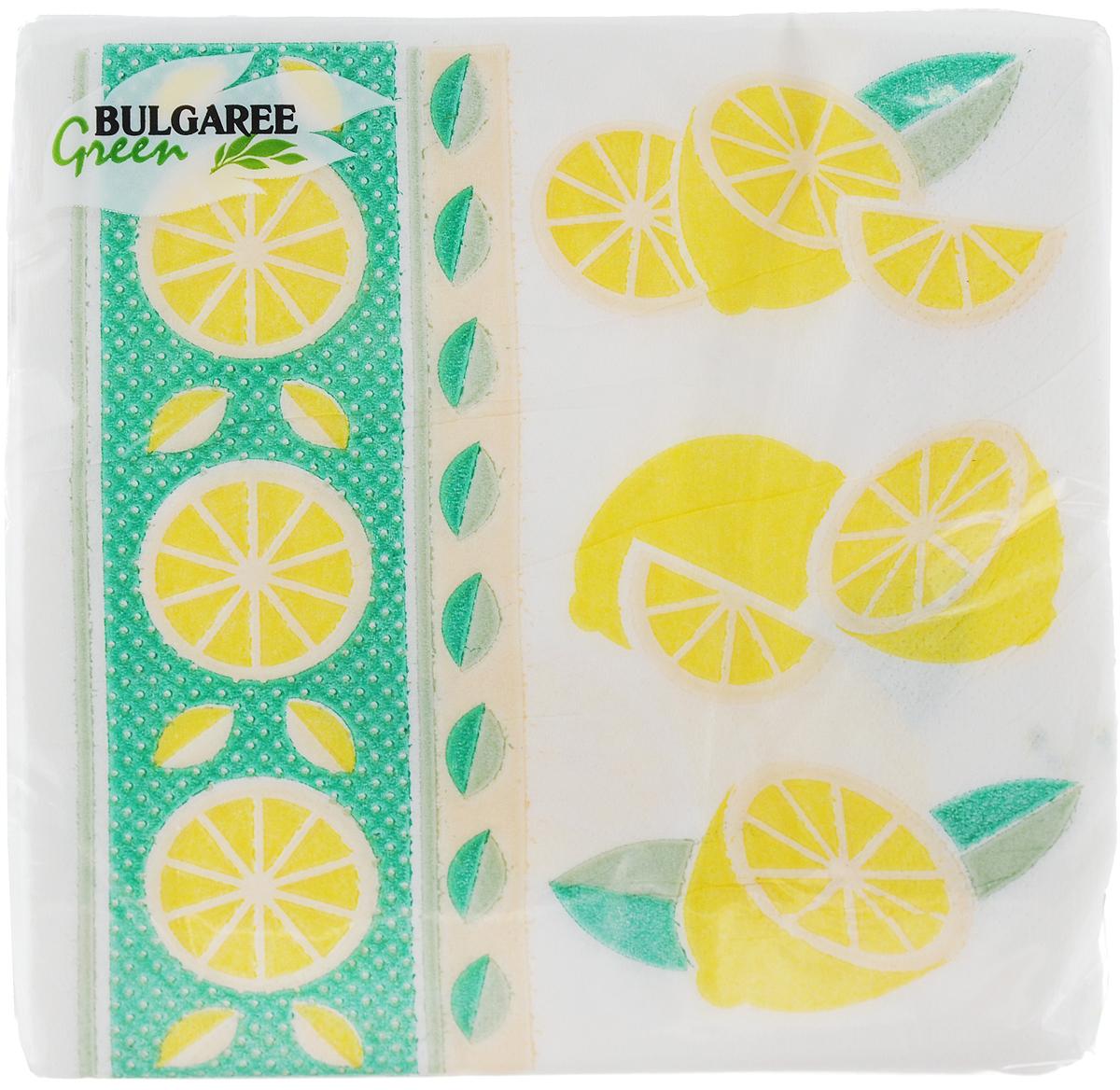 Салфетки бумажные Bulgaree Green Лимон, однослойные, 24 х 24 см, 100 шт101620_ЛимонДекоративные однослойные салфетки Bulgaree Green Лимон выполнены из 100% целлюлозы европейского качества и оформлены ярким рисунком. Изделия станут отличным дополнением любого праздничного стола. Они отличаются необычной мягкостью, прочностью и оригинальностью. Размер салфеток в развернутом виде: 24 х 24 см.