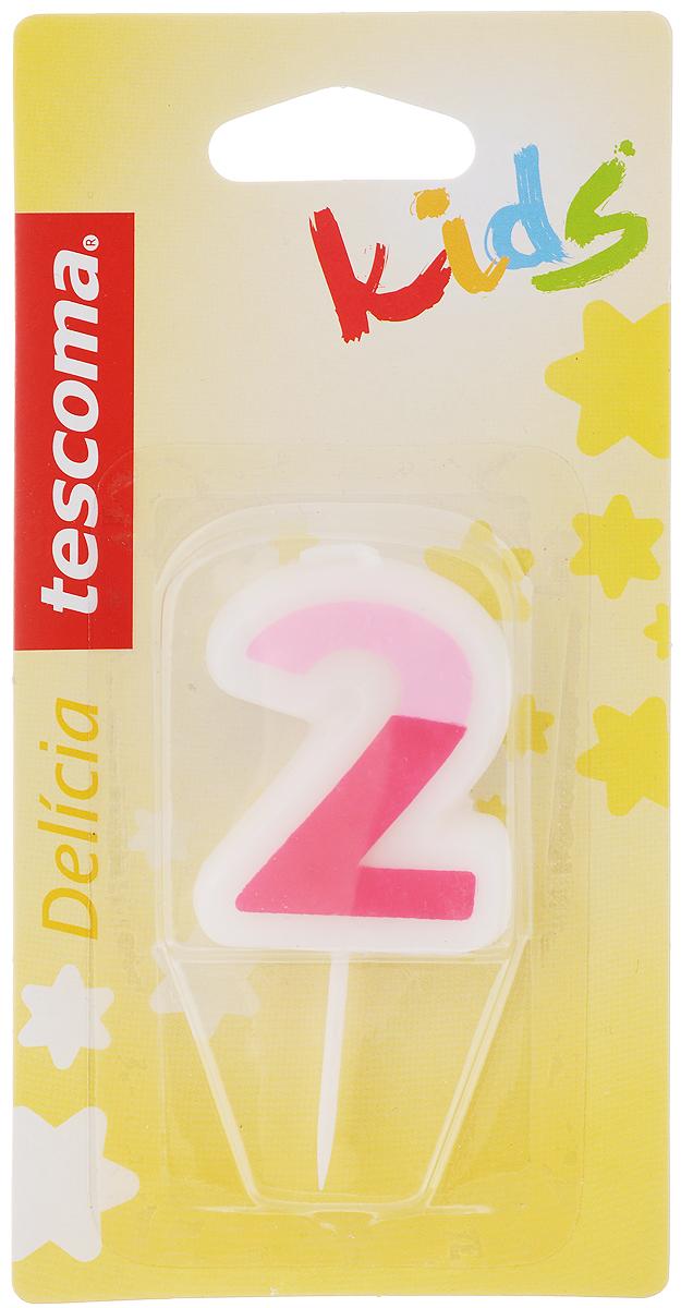 Свеча для торта Tescoma Delicia Kids, двойка, цвет: белый, розовый630972_розовыйСвеча для торта Tescoma Delicia Kids изготовлена из высококачественного парафина, фитиль - натуральное волокно. Это отличное решение для декорирования торта к празднику. Ее можно комбинировать с другими цифрами. Изделие хорошо и долго горит. С этой свечой ваш праздник станет еще удивительнее и веселее. Высота свечи (без учета иглы): 4,5 см.