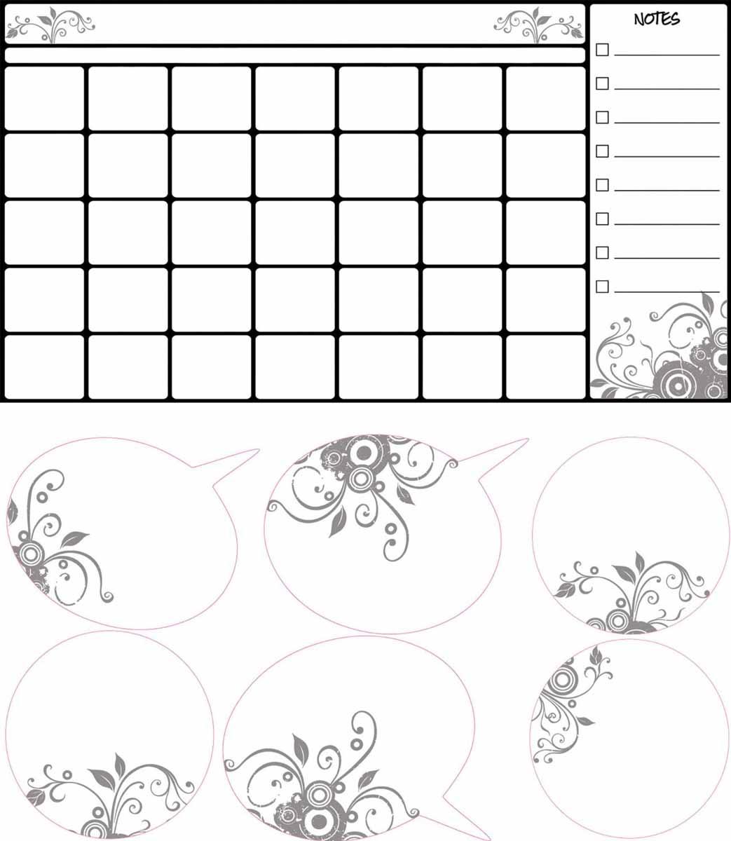 RoomMates Наклейка интерьерная Календарь для заметокRMK2382SCSИнтерьерная наклейка RoomMates Календарь для заметок обязательно станет украшением детской комнаты. Наклейка, входящая в набор, содержит изображение сетки календаря и поля для заметок. Ваш ребенок сможет оставлять пометки маркером на этой наклейке, как на белой доске - и они будут легко стираться. Ее не нужно вырезать, а следует просто отсоединить от защитного слоя и поместить на стену или любую другую плоскую гладкую поверхность. Она многоразовая: ее легко переклеивать и снимать со стены, она не оставляет липких следов на поверхности.