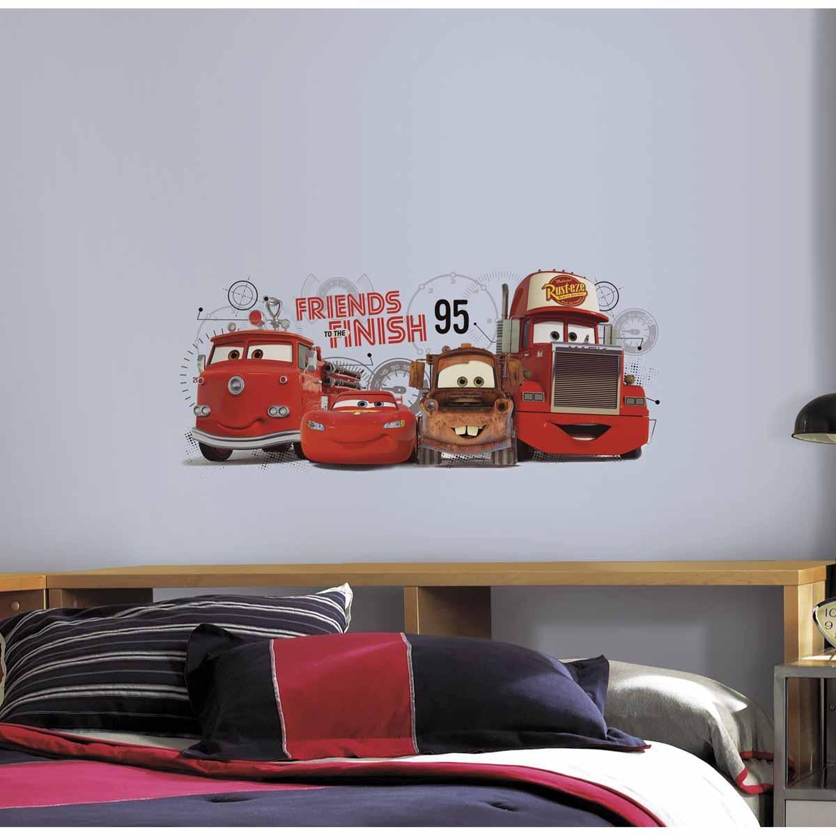 RoomMates Наклейки для декора Дисней Тачки 2 Друзья навсегда