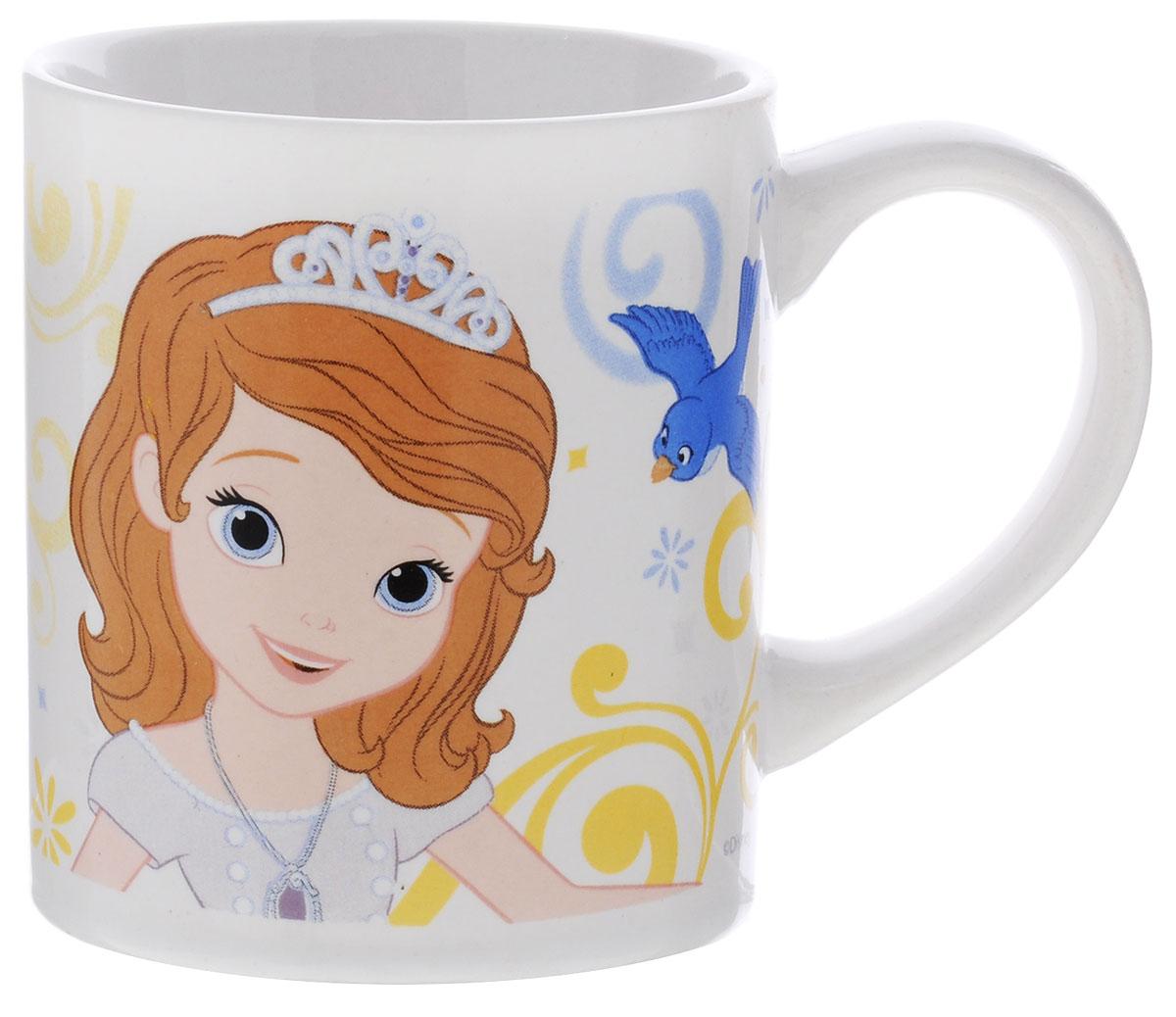 Stor Кружка детская Принцесса София Прекрасная 220 мл78506Детская кружка Stor Принцесса София Прекрасная из серии Stor Disney Princess с любимой героиней станет отличным подарком для вашей малышки. Она выполнена из керамики и оформлена изображением принцессы Софии. Кружка дополнена удобной ручкой. Такой подарок станет не только приятным, но и практичным сувениром: кружка будет незаменимым атрибутом чаепития, а оригинальное оформление кружки добавит ярких эмоций и хорошего настроения. Можно использовать в СВЧ-печи и посудомоечной машине.