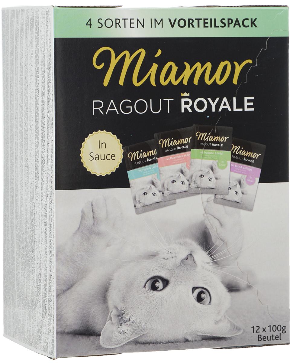 Консервы для кошек Miamor Рагу в деликатном соусе, 4 вида, 12 х 100 г