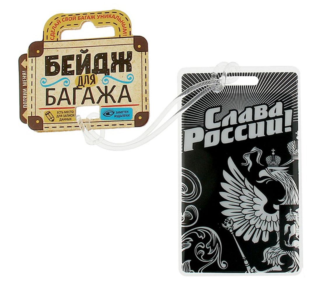Бирка на чемодан Sima-land Слава России, 6,5 х 11 см. 11562801156280Бирка на чемодан необходима каждому путешественнику! Яркий аксессуар сразу же привлекает внимание, поэтому вы легко отыщете свой чемодан на транспортной ленте.