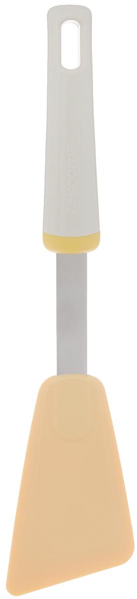 Лопатка Tescoma Delicia, длина 29 см630064Лопатка Tescoma Delicia выполнена из термостойкого нейлона (выдерживает до 210°C). Изделие отлично подходит для использования со всеми видами посуды, включая посуду с антипригарным покрытием. Не повреждает поверхность. Ручка изделия сделана из прочного пластика и нержавеющей стали. Можно мыть в посудомоечной машине. Размер рабочей поверхности: 11 х 6,5 см.