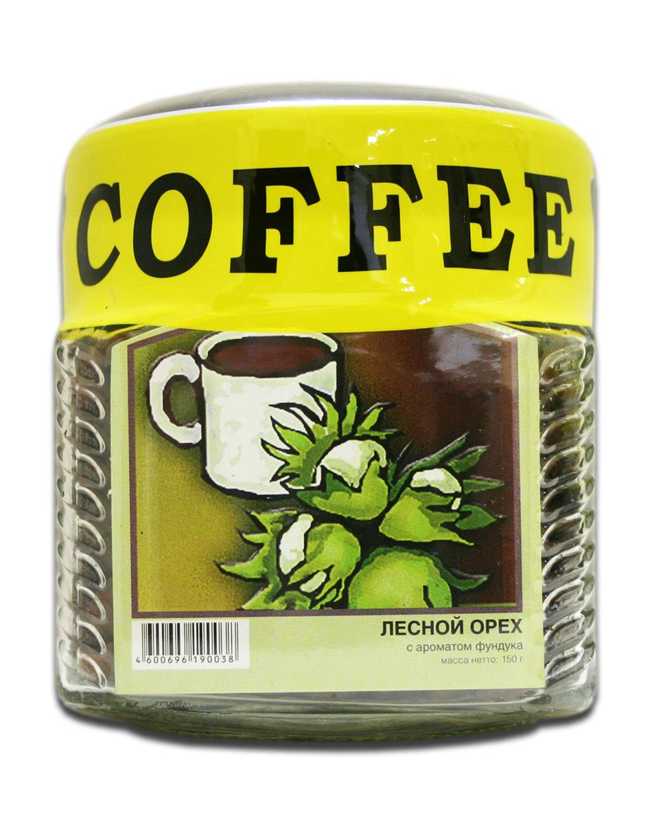 Блюз Ароматизированный Лесной орех кофе в зернах, 150 г (банка)