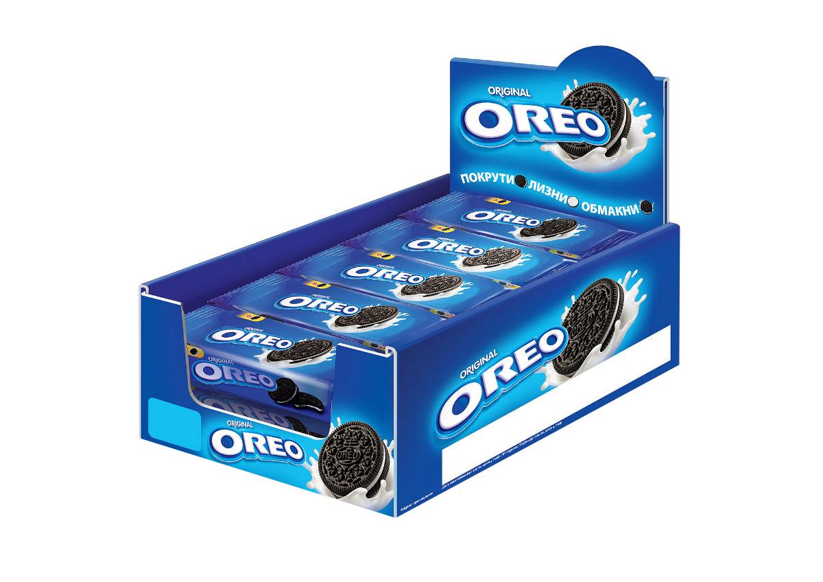 Oreo печенье, 12 шт х 38 г7622210309389Печенье Oreo любит весь мир! Взрослым и детям нравится забавный способ которым едят Орео. Покрути+Лизни+Обмакни=Орео. Попробуйте, это весело и очень легко. Печенье с какао и начинкой с ванильным вкусом безусловно порадует и детей и взрослых!