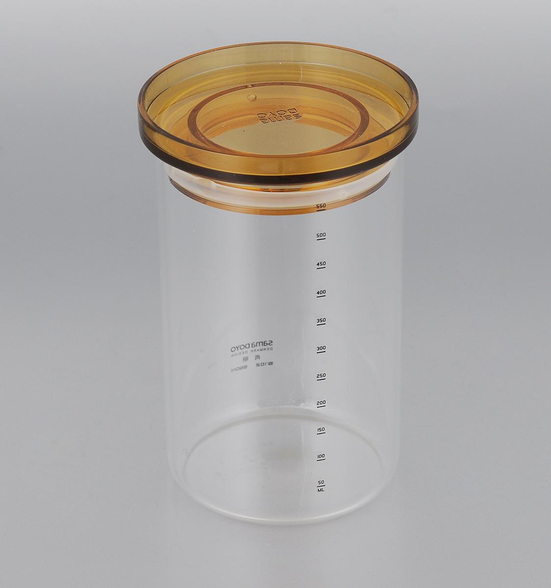 Банка для хранения чая Samadoyo, 550 мл2353Банка для хранения Samadoyo, изготовленная из высококачественного стекла, имеет крышку. Она предназначена для хранения чая или других сыпучих продуктов. Банка Samadoyo станет отличным дополнением к коллекции кухонных аксессуаров и поможет эффективно организовать пространство на кухне.