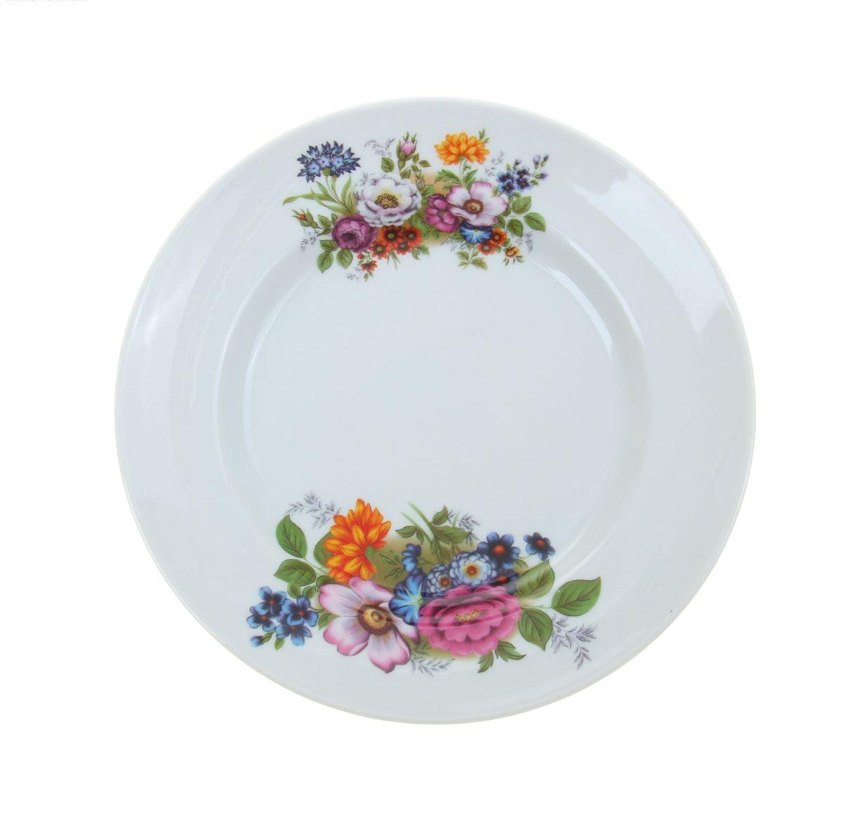 Тарелка мелкая Идиллия. Букет цветов, диаметр 20 см1035429