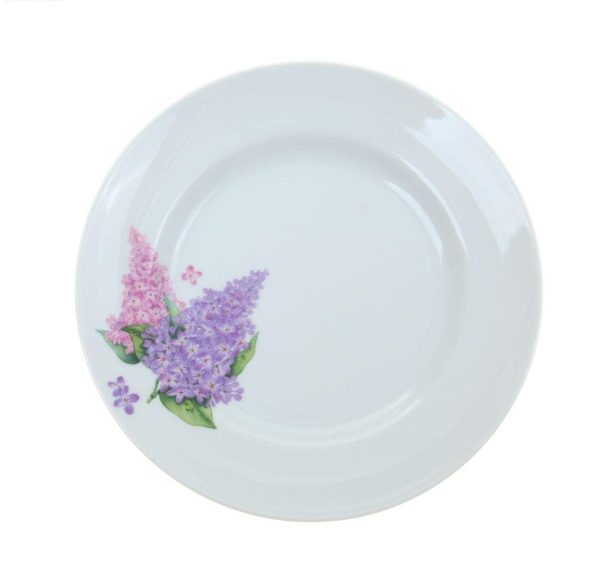 Тарелка мелкая Идиллия. Сирень, диаметр 20 см4С0189