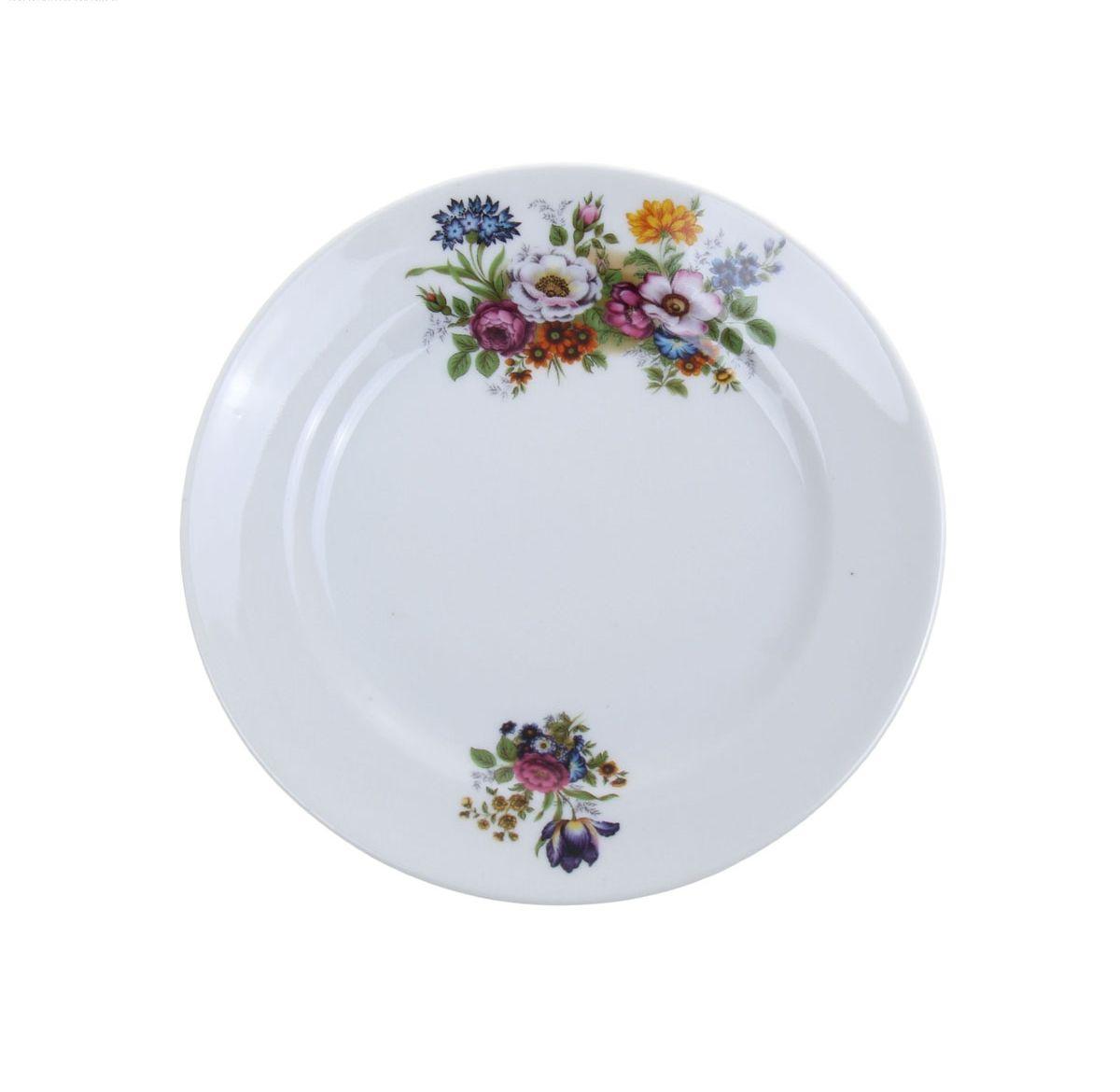 Тарелка мелкая Идиллия. Букет цветов, диаметр 17 см1063088