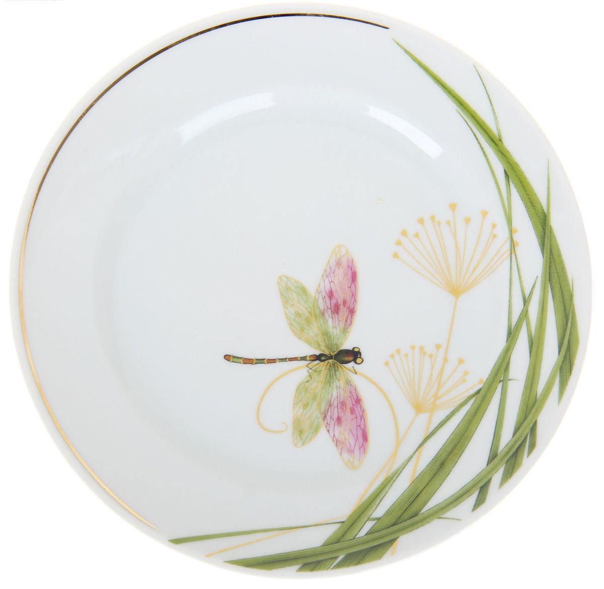 Тарелка мелкая Идиллия. Стрекоза, диаметр 17 см1224521