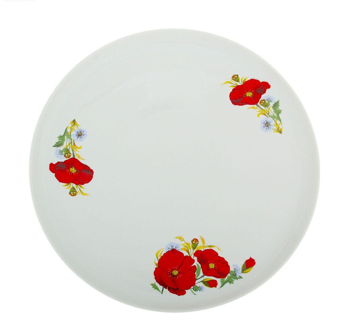 Блюдо для пиццы Красные маки, диаметр 30 см9С0613