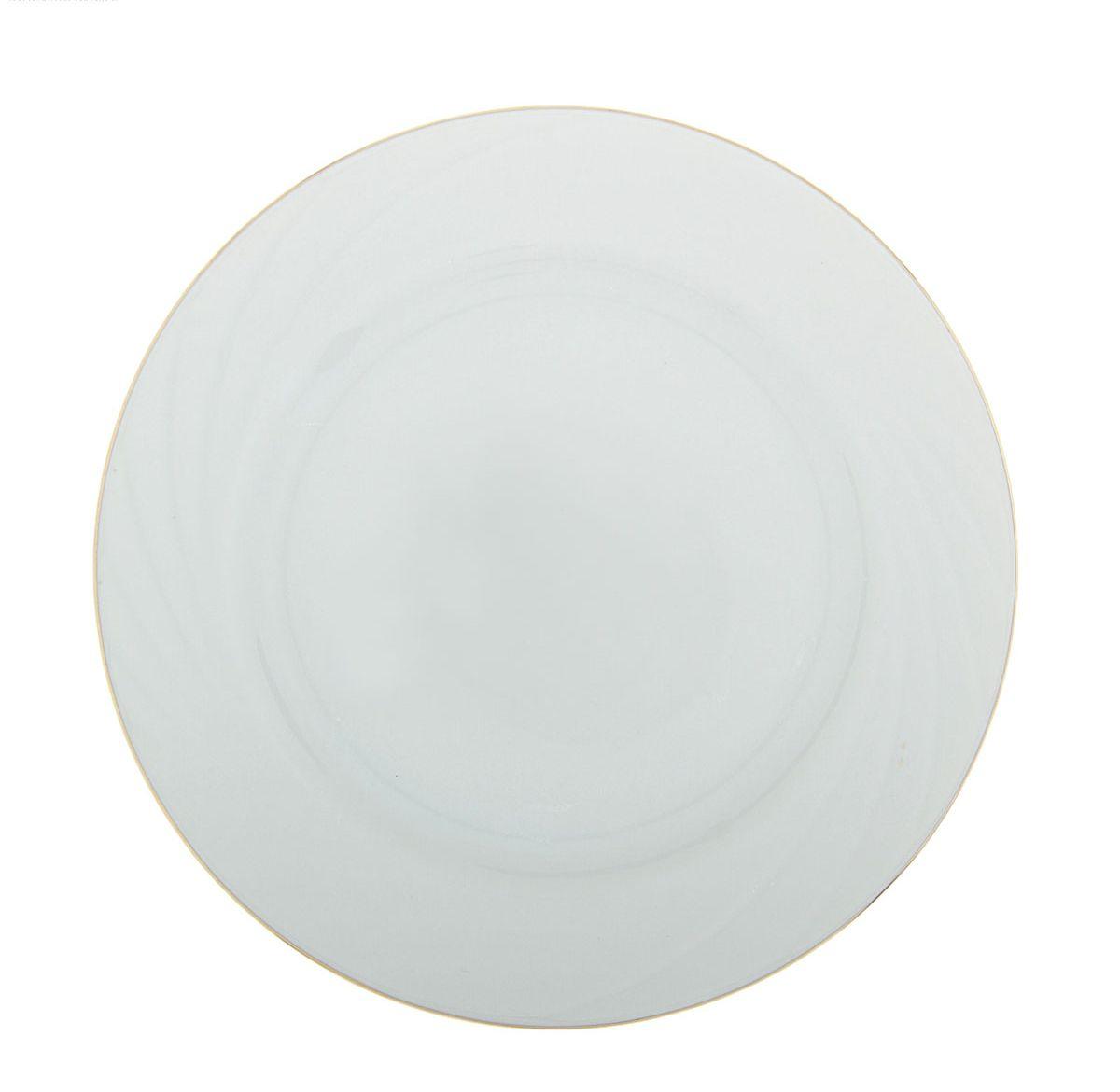 Тарелка мелкая Голубка, диаметр 17,5 см507896