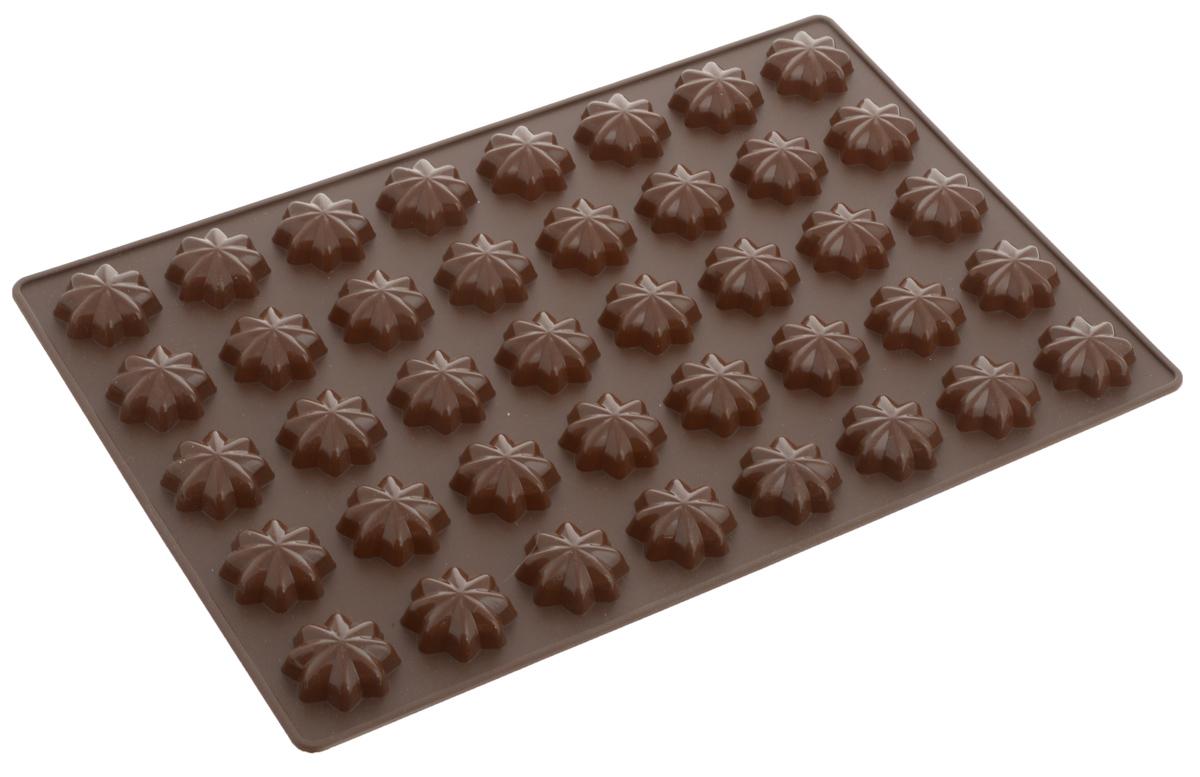 Форма для выпечки Tescoma Звездочки, 40 ячеек629354_коричневыйФорма для выпечки Tescoma Звездочки изготовлена из высококачественного силикона. Форма содержит 40 неглубоких ячеек. Простая в уходе и долговечная в использовании форма будет верной помощницей в создании ваших кулинарных шедевров. Изделие подходит для использования в холодильнике. На упаковке имеются рецепты приготовления вкусных десертов. Можно мыть в посудомоечной машине. Размер формы: 32 x 22 х 0,7 см. Диаметр ячейки: 3 см.