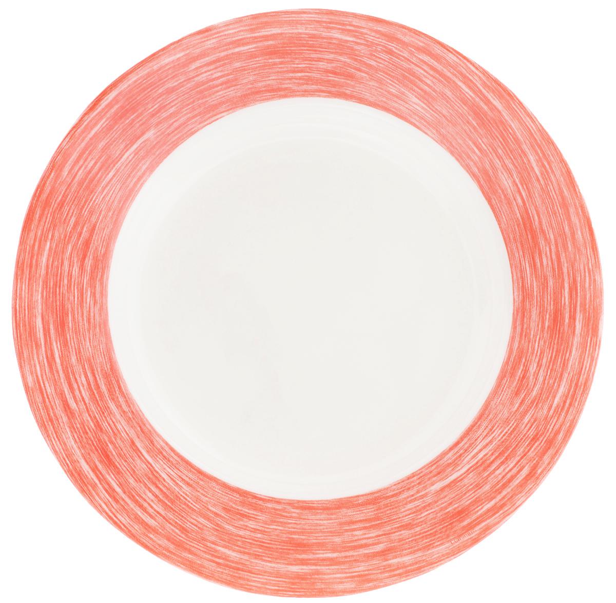 Тарелка суповая Luminarc Color Days, цвет: белый, красный, диаметр 22 смL1526Суповая тарелка Luminarc Color Days выполнена из ударопрочного стекла. Она прекрасно впишется в интерьер вашей кухни и станет достойным дополнением к кухонному инвентарю. Тарелка Luminarc Color Days подчеркнет прекрасный вкус хозяйки и станет отличным подарком. Можно мыть в посудомоечной машине и использовать в микроволновой печи. Диаметр тарелки: 22 см.