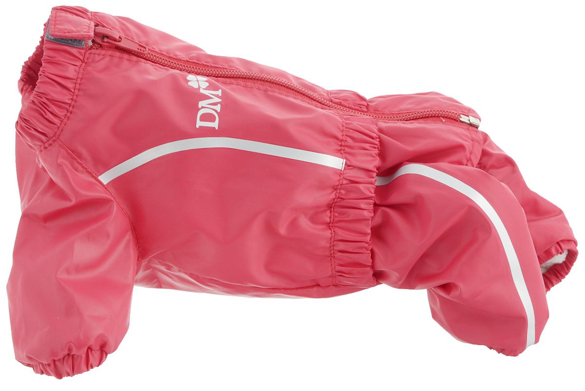 Комбинезон для собак Dogmoda Альпы, для девочки, цвет: красный. Размер 1 (S)DM-160100-1Комбинезон для собак Dogmoda Альпы отлично подойдет для прогулок поздней осенью или ранней весной. Комбинезон изготовлен из полиэстера, защищающего от ветра и осадков, с подкладкой из флиса, которая сохранит тепло и обеспечит отличный воздухообмен. Комбинезон застегивается на молнию и липучку, благодаря чему его легко надевать и снимать. Ворот, низ рукавов и брючин оснащены внутренними резинками, которые мягко обхватывают шею и лапки, не позволяя просачиваться холодному воздуху. На пояснице имеется внутренняя резинка. Изделие декорировано серебристыми полосками и надписью DM. Благодаря такому комбинезону простуда не грозит вашему питомцу и он не даст любимцу продрогнуть на прогулке.