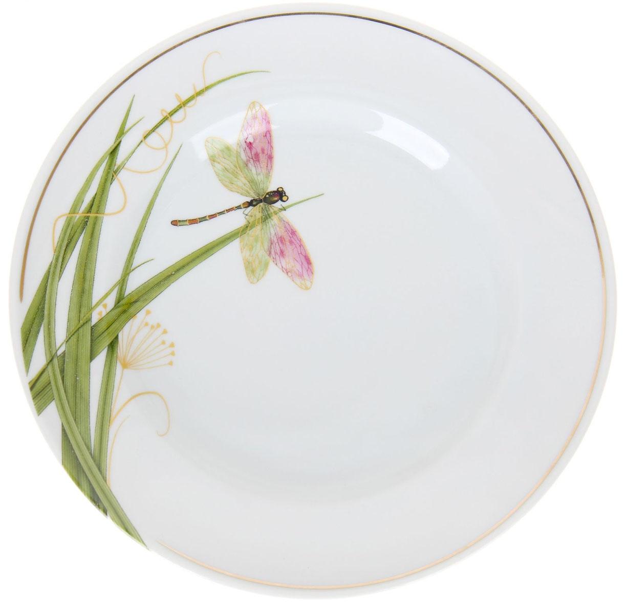 Тарелка мелкая Идиллия. Стрекоза, диаметр 20 см1225769