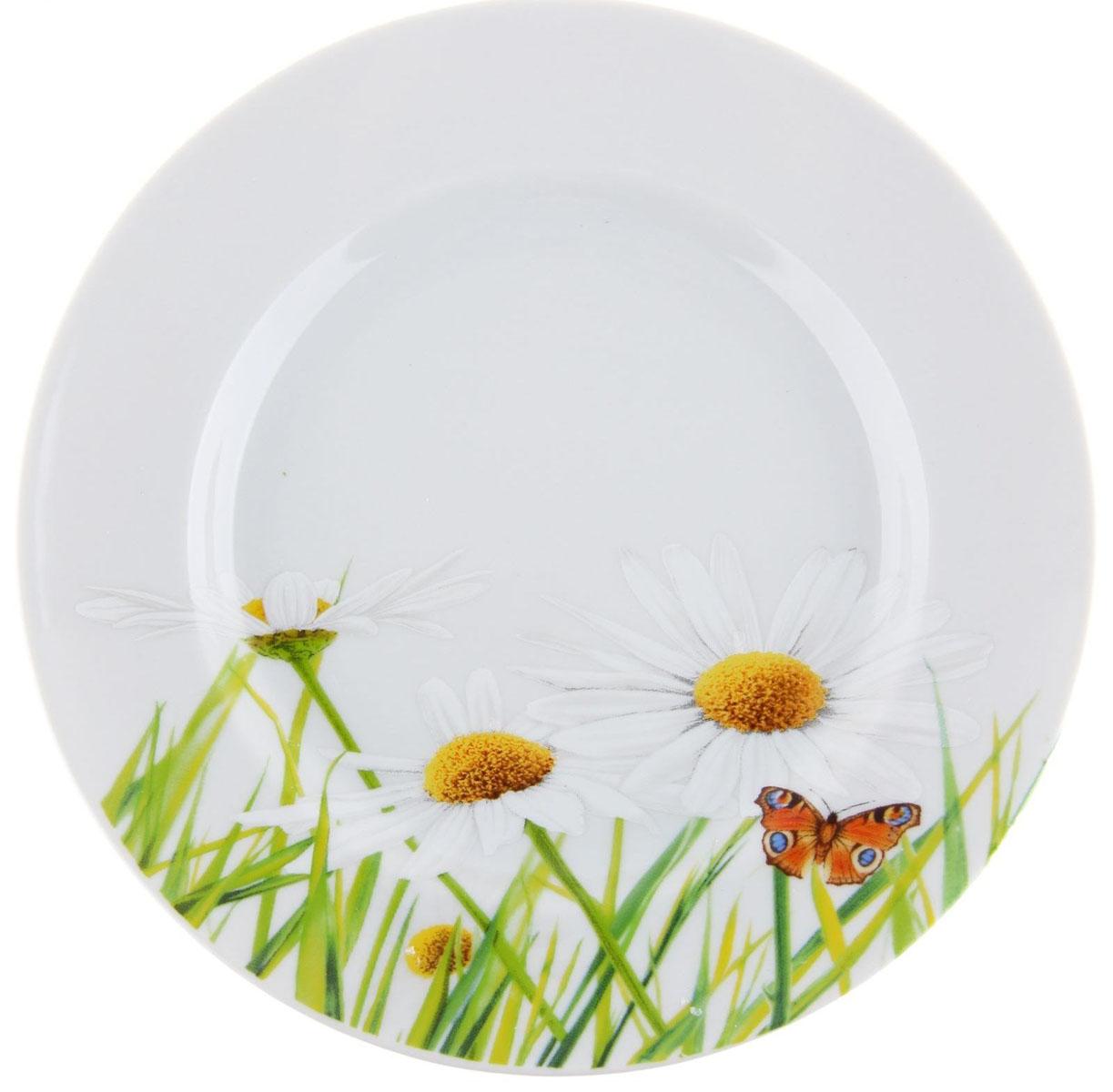 Тарелка мелкая Идиллия. Ромашка, диаметр 20 см1280310