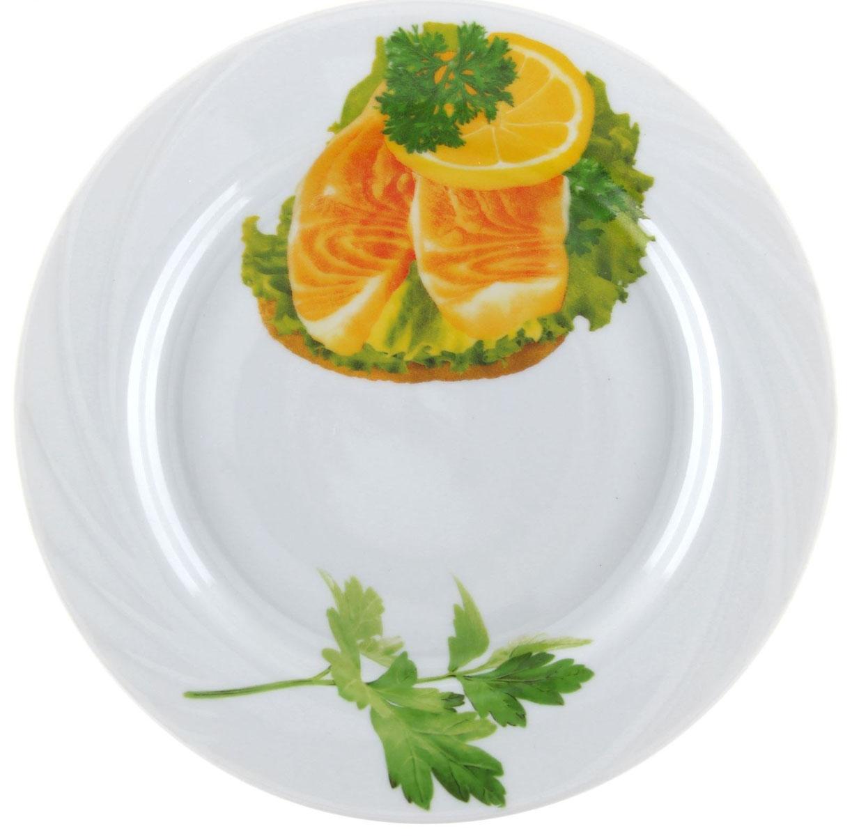 Тарелка мелкая Голубка. Бутерброды, диаметр 20 см1303756