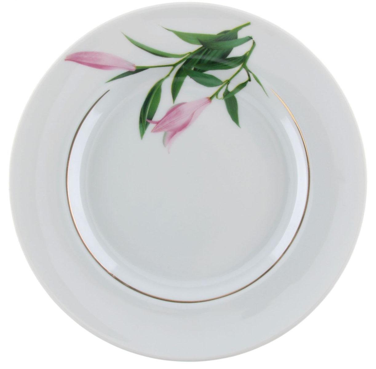 Тарелка мелкая Идиллия. Бутон, диаметр 20 см1303775