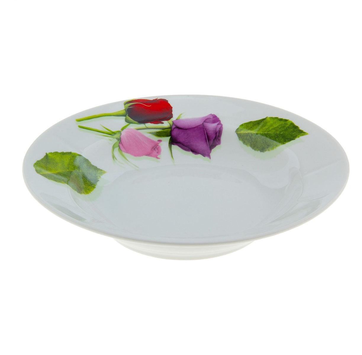 Тарелка глубокая Идиллия. Королева цветов, диаметр 20 см507764