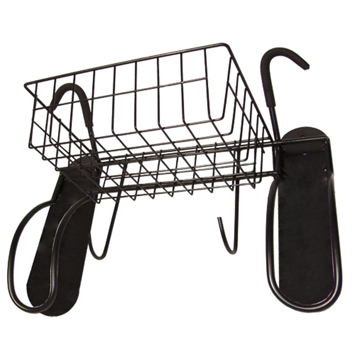 Подвесная система для 2-х велосипедов МастерПроф, вертикальное хранениеАС.050008Съёмная корзина для удобного хранения шлемов, перчаток, обуви и т.д. Виниловое покрытие кронштейнов защитит краску велосипеда. Расширенная монтажная площадка - для большей прочности и устойчивости. За счёт хранения двух велосипедов на стене система вертикального хранения экономит место в вашем доме или гараже.