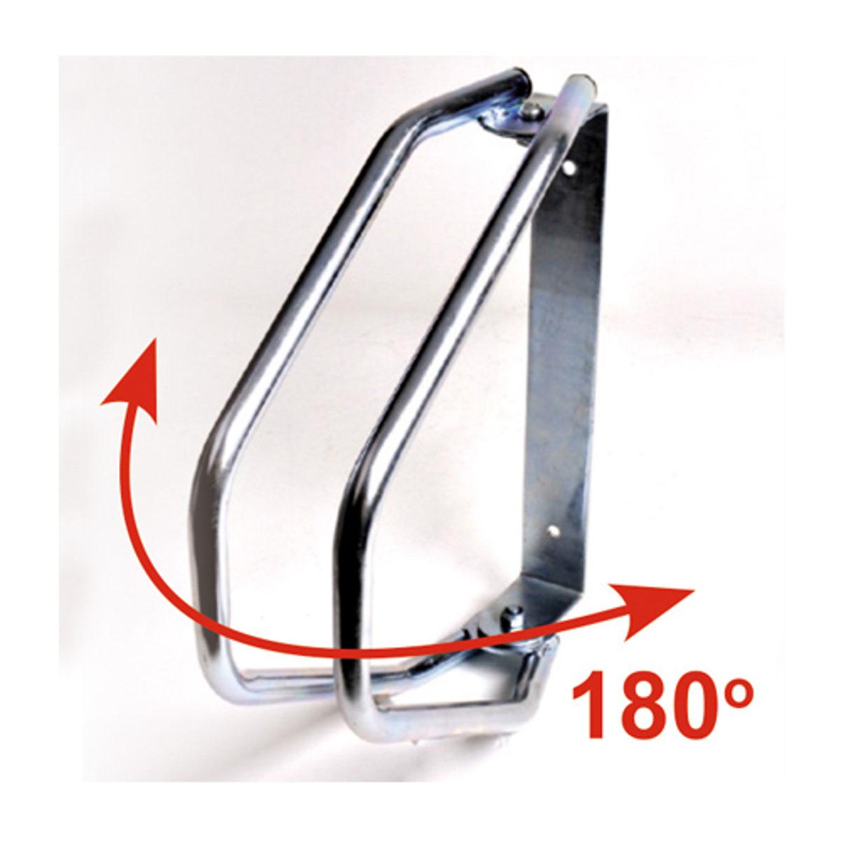 Велопарковка настенная МастерПроф, регулируемаяАС.050030Регулируемая настенная велопарковка. Удобна для использования в гараже и на улице. Система может быть развернута на 180 градусов. Подходит для шин шириной до 50 мм. Простая установка с помощью двух винтов.