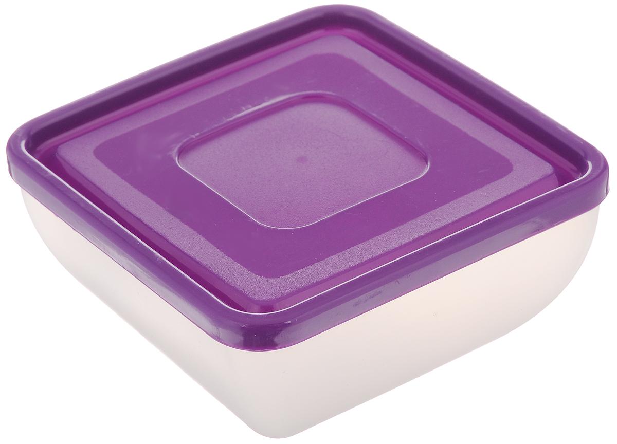 Салатник Gotoff, с крышкой, цвет: прозрачный, фиолетовый, 500 млM-653_прозрачный, фиолетовыйКвадратный салатник Gotoff изготовлен из полипропилена и идеально подходит для сервировки стола. В комплекте имеется крышка. Салатник Gotoff не только украсит ваш кухонный стол и подчеркнет прекрасный вкус хозяйки, но и станет отличным подарком. Размер салатника по верхнему краю (без учета крышки): 11,5 х 11,5 см. Высота салатника (без учета крышки): 6,5 см.