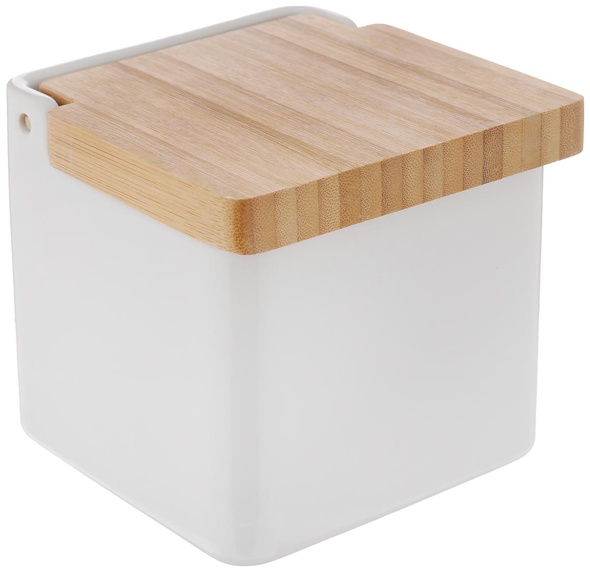 Емкость для сыпучих продуктов Tescoma Online, 750 мл900884Емкость для сыпучих продуктов Tescoma Online изготовлена из высококачественной керамики. Крышка выполнена из прочной древесины бамбука. Продукты дольше остаются свежими и ароматными. Банка подходит для хранения круп, муки, чая, соли, панировочных сухарей и многого другого. Исключительный внешний вид изделия позволяет идеально вписать его в любой интерьер. Нельзя мыть в посудомоечной машине.