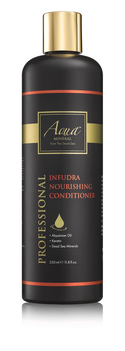 Aqua mineral Кондиционер для волос восстанавливающий и питательный 350 мл0956Кондиционер обеспечивает интенсивный уход поврежденным, пересушенным, пористым волосам, страдающим от недостатка влаги, ломкости, сечения. Основан на минералах Мертвого моря, масле крамбе - абиссинская горчица, и кератине, которые смягчают и разглаживают волосы, стимулируют восстановление кутикулы на поврежденных участках, а уникальное сочетание витаминов и ненасыщенных жирных кислот увлажняет и распутывает волосы, защищает структуру волос от разрушения, а также увеличивает объем и придает волосам здоровый блеск.