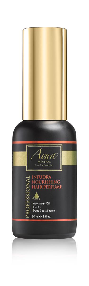 Aqua mineral Средство питательное парфюмированное для волос 30 мл1014Восхитительный аромат и совершенный блеск волос на протяжении всего дня придает средство питательное парфюмированное для волос. Богатая формула, обогащенная кератином и маслом крамбе (абиссинская горчица), питает и придает волосам роскошный аромат.