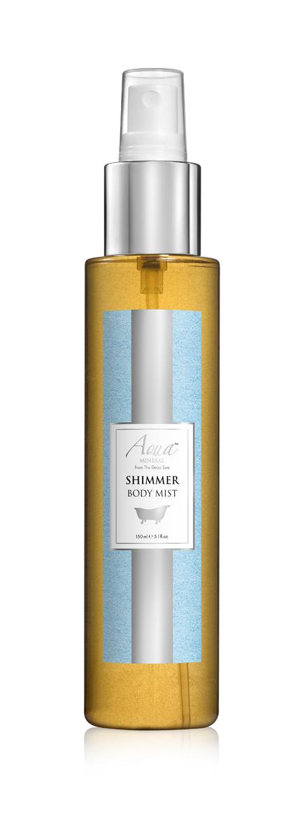 Aqua mineral Спрей для тела мерцающий 150 мл8549Мягкое и нежное, это очищающее средство идеально подходит даже для чувствительной кожи. Миндальное, пальмовое и касторовое масла в его составе дарят коже необходимое увлажнение