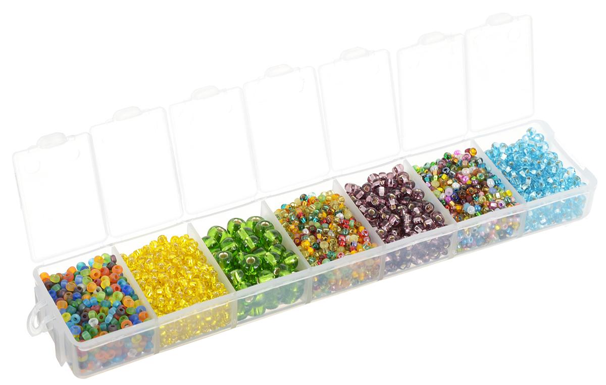 Набор бисера Preciosa Ассорти А13, 7 цветов, 90 г7704343_А13Набор бисера Preciosa Ассорти А13 позволит вам своими руками создать оригинальные ожерелья, бусы или браслеты. Он идеально подойдет для вышивания на предметах быта и женской одежде. Набор включает в себя бисер разных размеров и цветов. Предметы набора упакованы в пластиковую коробочку с семью отсеками. Изготовление украшений - занимательное хобби и реализация творческих способностей рукодельницы, это возможность создания неповторимого индивидуального подарка.