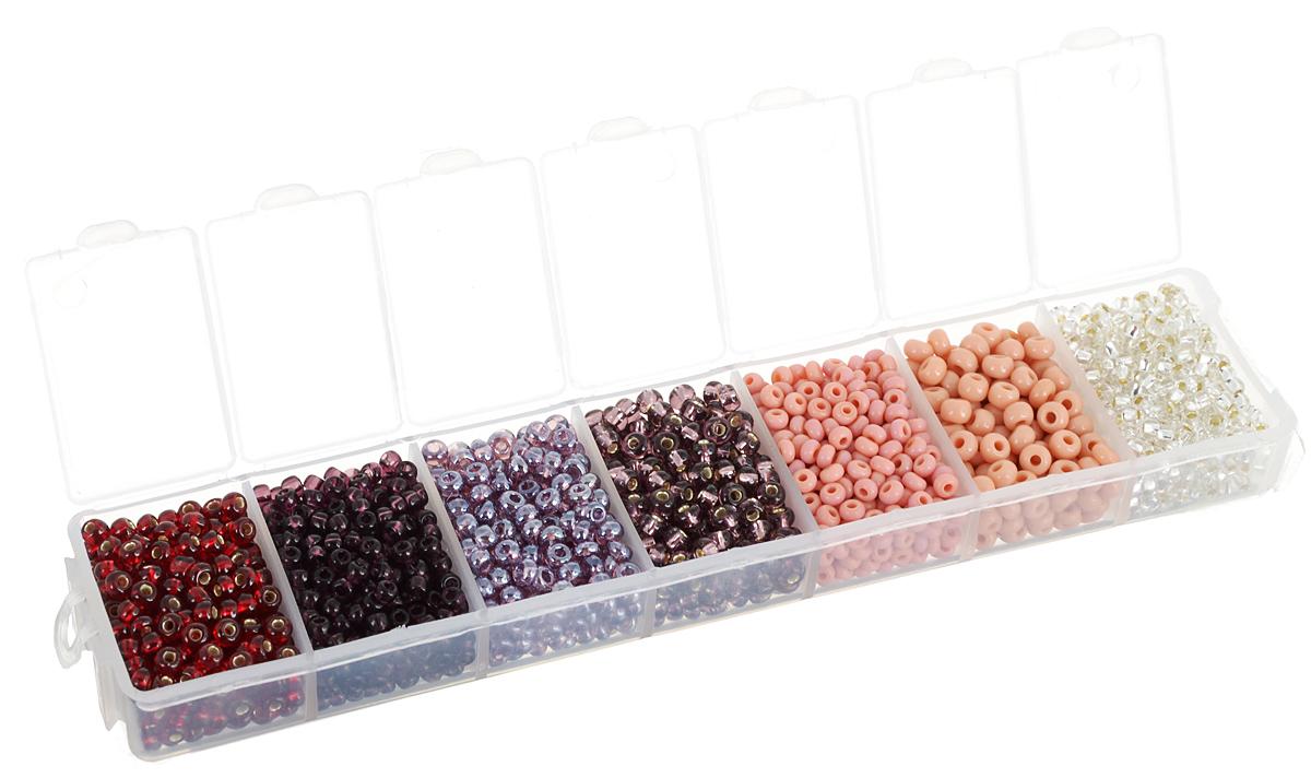 Набор бисера Preciosa Ассорти №25, 7 цветов, 90 г7704343_25Набор бисера Preciosa Ассорти №25 позволит вам своими руками создать оригинальные ожерелья, бусы или браслеты, а также заняться вышиванием. В бисероплетении часто используют бисер разных размеров и цветов. Он идеально подойдет для вышивания на предметах быта и женской одежде. Набор включает в себя бисер разных размеров и цветов: прозрачного, темно-розового, розового, темно-сиреневого, сиреневого, темно- фиолетового и темно- красного. Предметы набора упакованы в пластиковую коробочку с семью отсеками. Изготовление украшений - занимательное хобби и реализация творческих способностей рукодельницы, это возможность создания неповторимого индивидуального подарка.